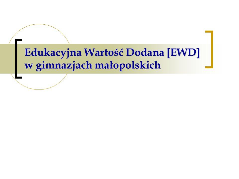Edukacyjna Wartość Dodana [EWD] w gimnazjach małopolskich